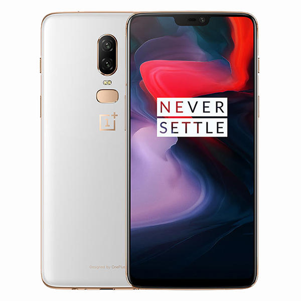 OnePlus 6 6.28 Inch White 19:9 AMOLED NFC Android 8.1 8GB RAM 128GB ROM Snapdragon 845 4G Smartphone