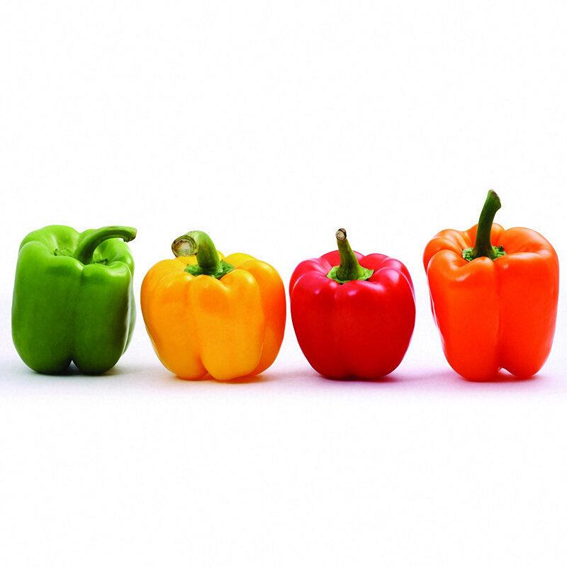 Egrow 50 Pz / Borsa Misto Rosso Giallo Semi di Peperone Verde Colorful Semi di Peperone Giallo Viola Rosso Verde Bianco Arancione Nero Misto Dolce Peperone Semi - 10