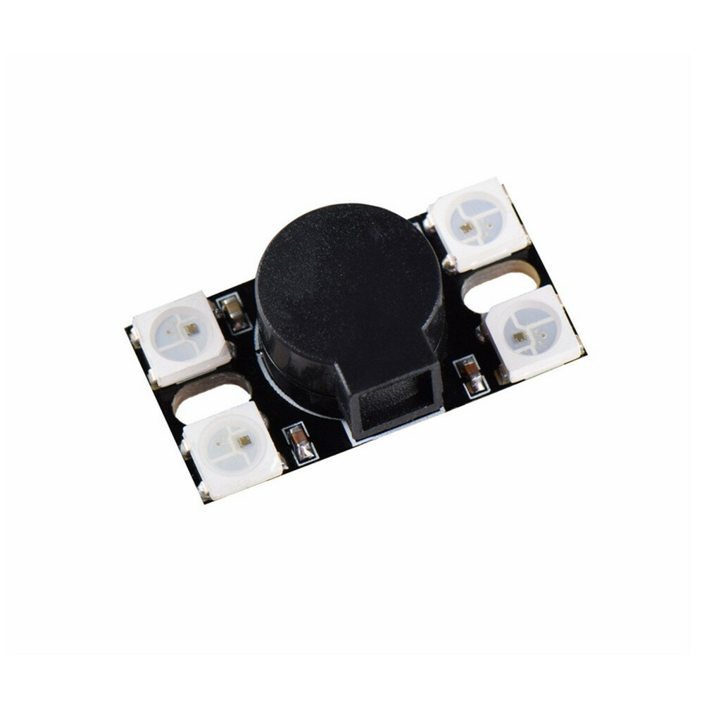 BZ110DB_WS2812 5V 110DB Super Loud Active Buzzer with WS2812 LED Light for RC Drone FPV Racing
