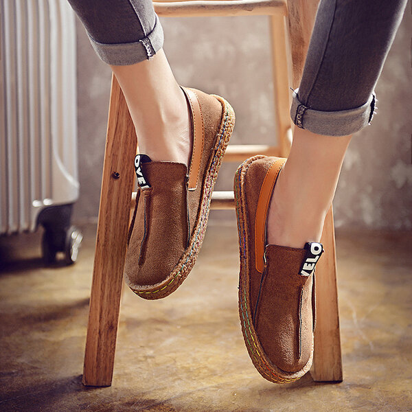 Comfortable Hollow Out Splicing Flat Loafers - 10