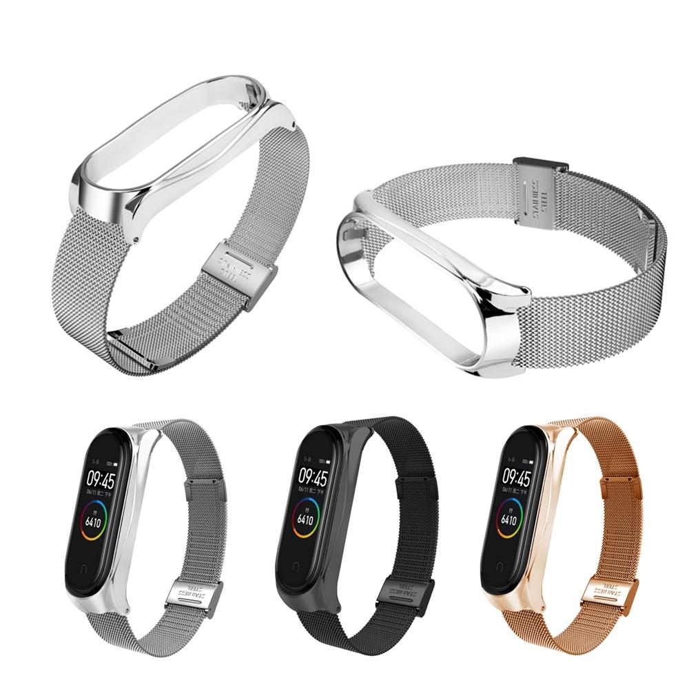 Bakeey Metal Watch Band Milan Stainless Steel Watch Strap for Xiaomi Mi band 4 Smart Watch