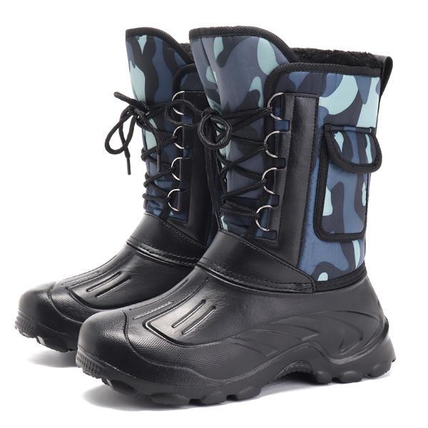 Men Anti-Collision Hand Stitching Slip Resistant Boots - 4