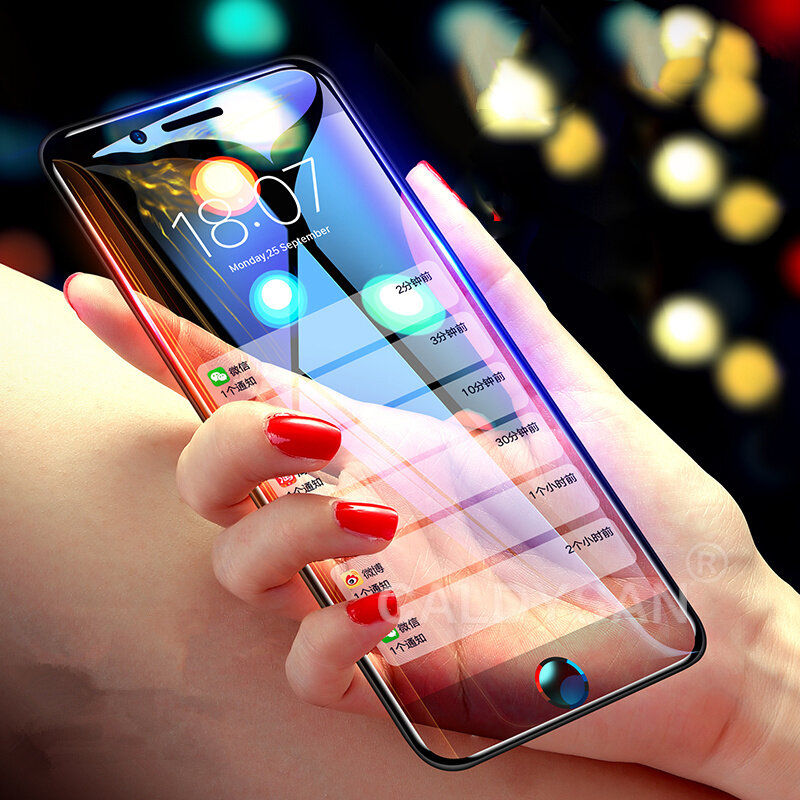 competitive price e635e 9c4de Bakeey 10D Curved Edge Cold Carving Tempered Glass Screen Protector For  iPhone 6 Plus/6s Plus