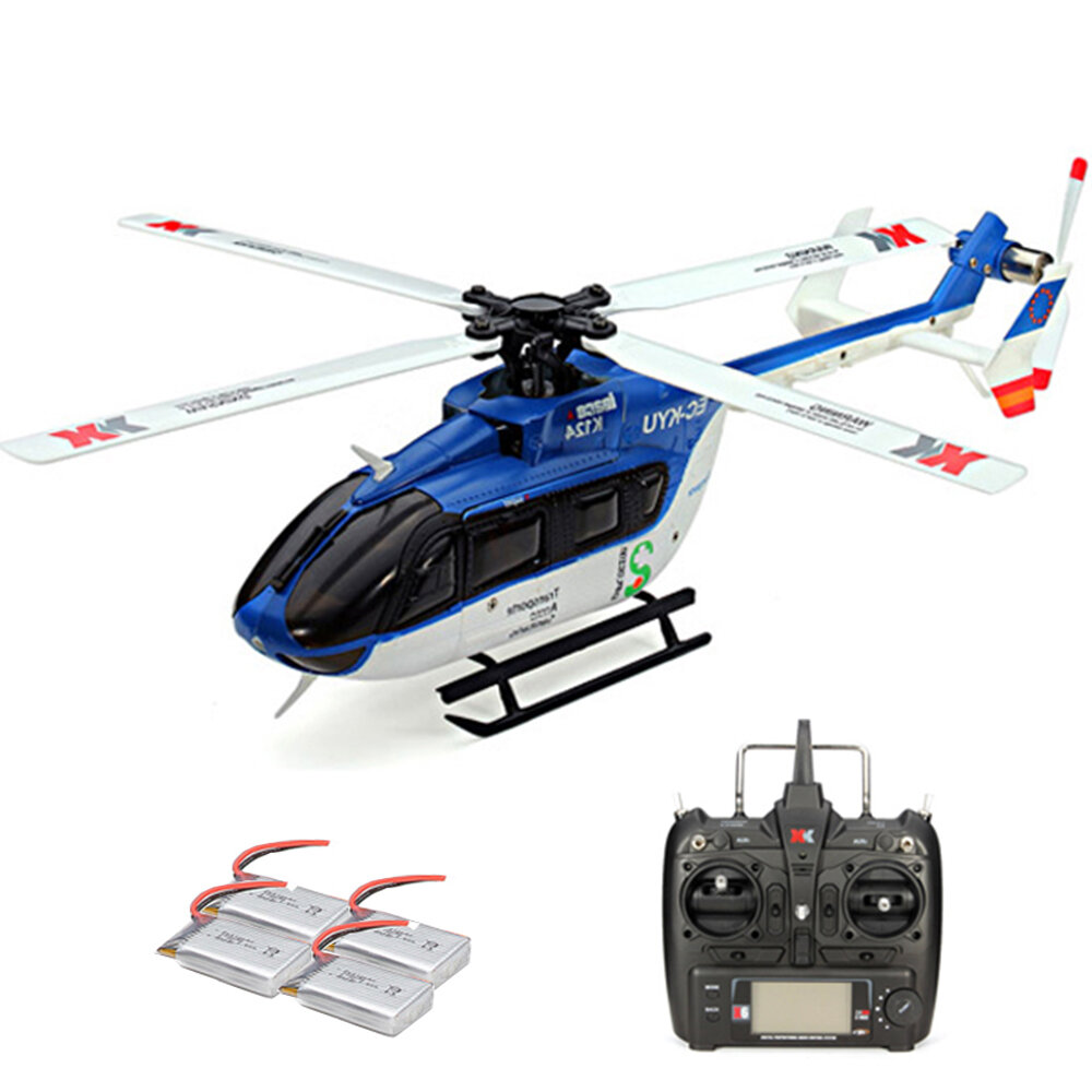 XK K123 6CH Brushless AS350 Scale RC Helicopter RTF Mode 2 - 1