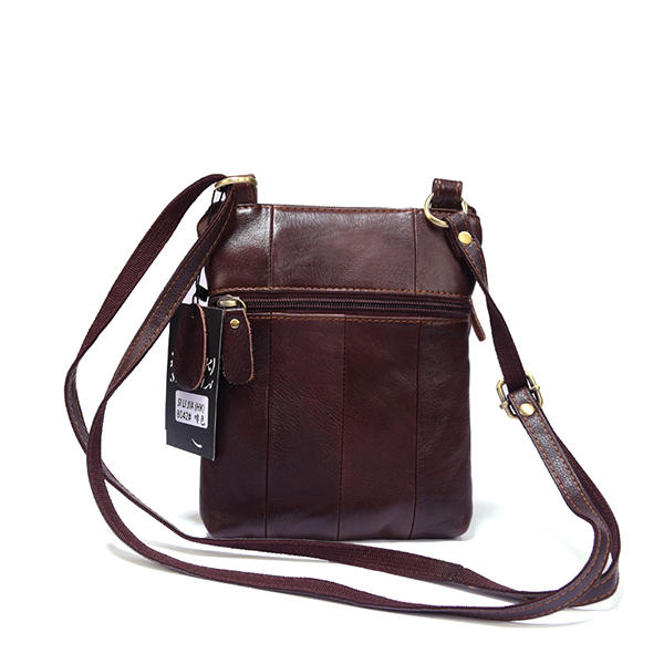 Men Genuine Leather Vintage Waist Bag - 3