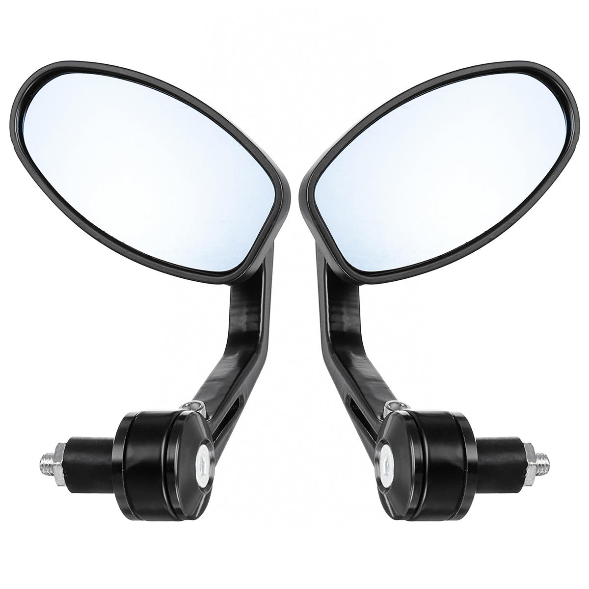 Pair Left Right Universal Handlebar Rearview Side Mirrors Motorcycle Scooter фото