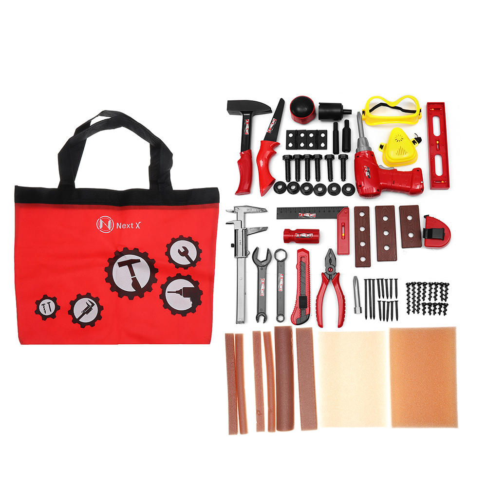 69pcs Pretend Play Classic Gardening Tool Toy Repair Tools Set