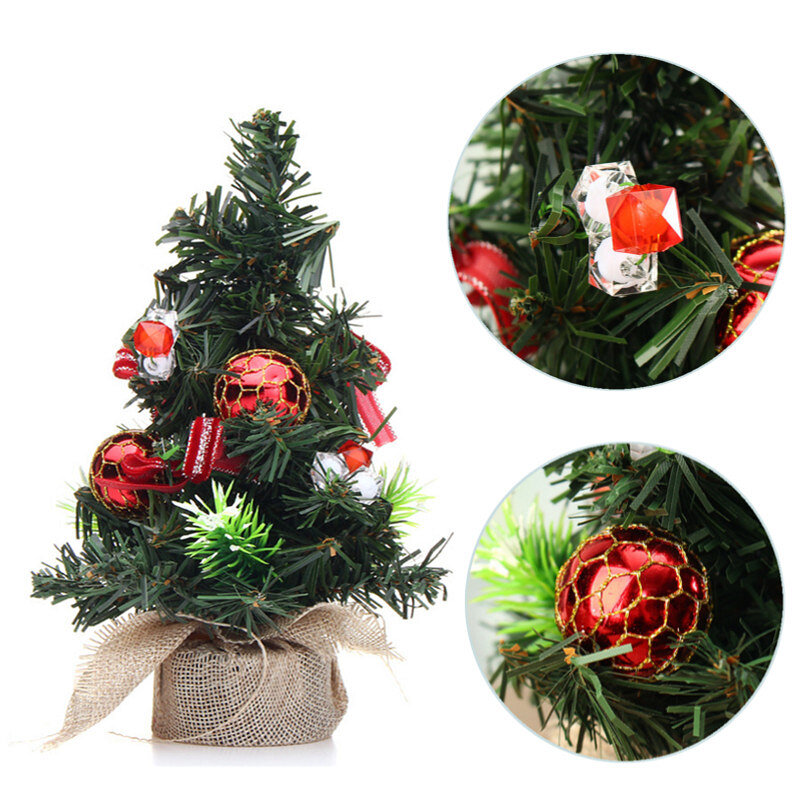 Christmas Home Party Decorations Supplies Mini Christmas Tree With Ornaments Toys фото