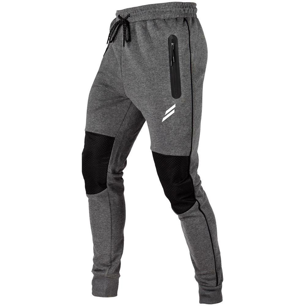 Männer Jogginghose Color Block Reißverschlusstasche Outdoor Training Sporthose - 7