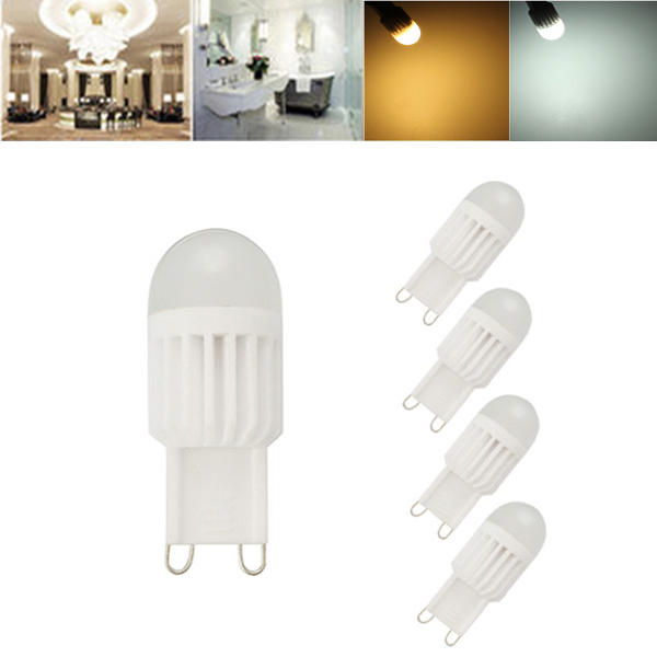 Dimmable G4 G9 5W Silicone Warm White Pure White LED COB Light Bulb Chandelier Lamp AC220V - 1