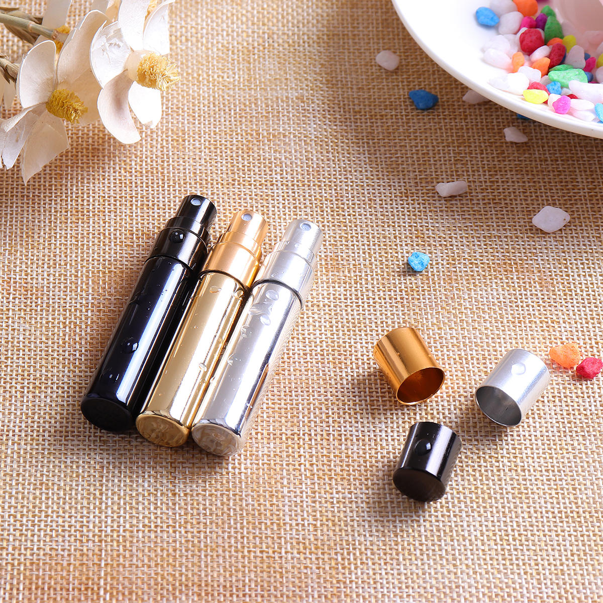 12ml Empty Perfume Bottle Metal Roller Ball Refillable - 8