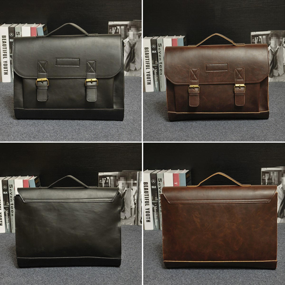 4649592455b6 Retro Men Bag PU Leather Men Handbags Casual Business Laptop Bag Messenger  Bags Office Bag