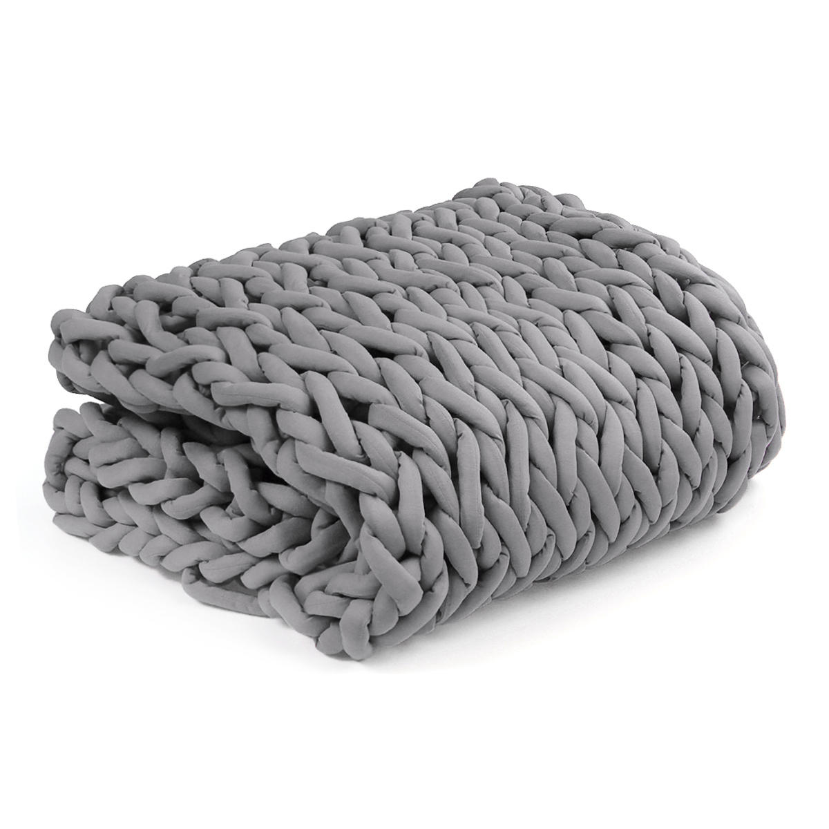 100x120cm Handmade Knitted Blankets Soft Warm Thick Line Cotton Throw Blankets - 8