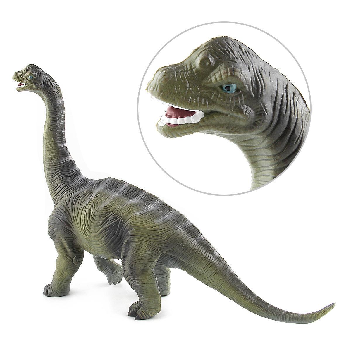 Большая игрушка динозавров Brachiosaurus Реалистичная твердая пластиковая модель Diecast для детей - 5