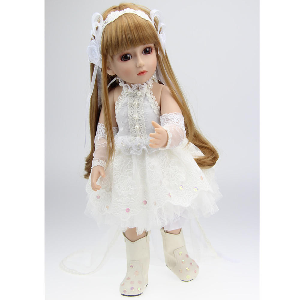 BJD Joints Doll Girl  White Princess Handmade Realistic Dress Play House Toys Gifts