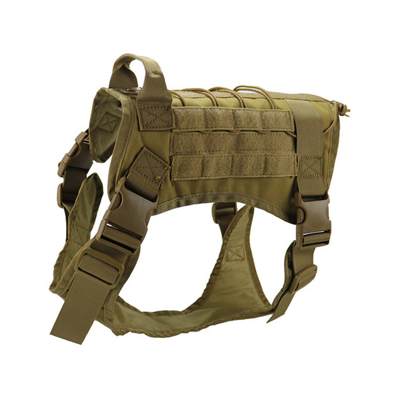 Hunting Dog Military Camouflage Tactical Vest Pet Dog Clothes Outdoor Training Molle Dog Harness - 4