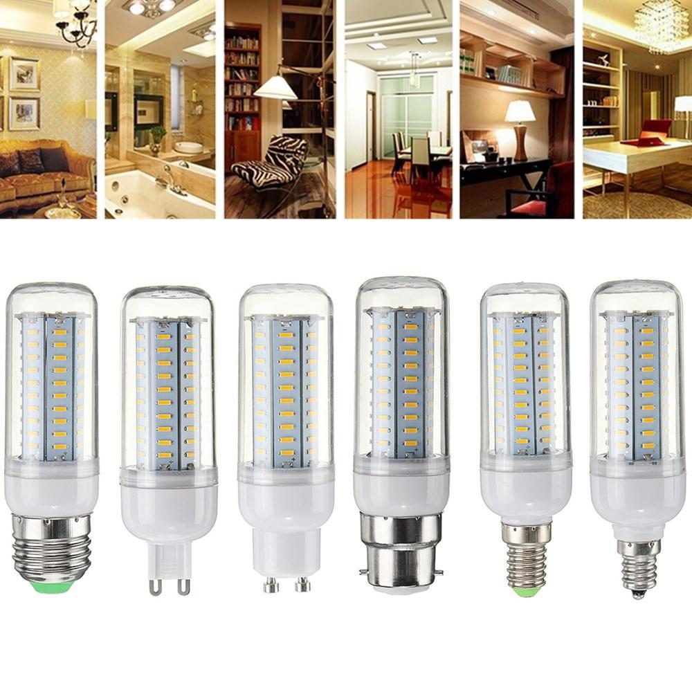 5W E12 E14 E27 E26 B22 3 Modes LED Flame Fire Light Effect Simulated Corn Bulb AC85-265V - 1