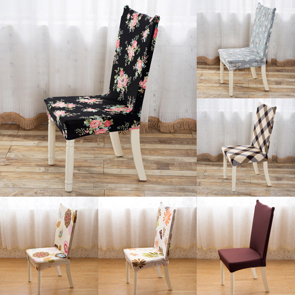 Stretch Spandex Chair Covers Elastic for Dining room Wedding Banquet Slipcovers