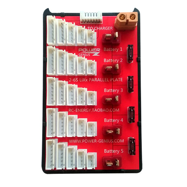 Power Genius PG Parallel Charging Board Supports 5 Packs of 2-6S Lipo Battery