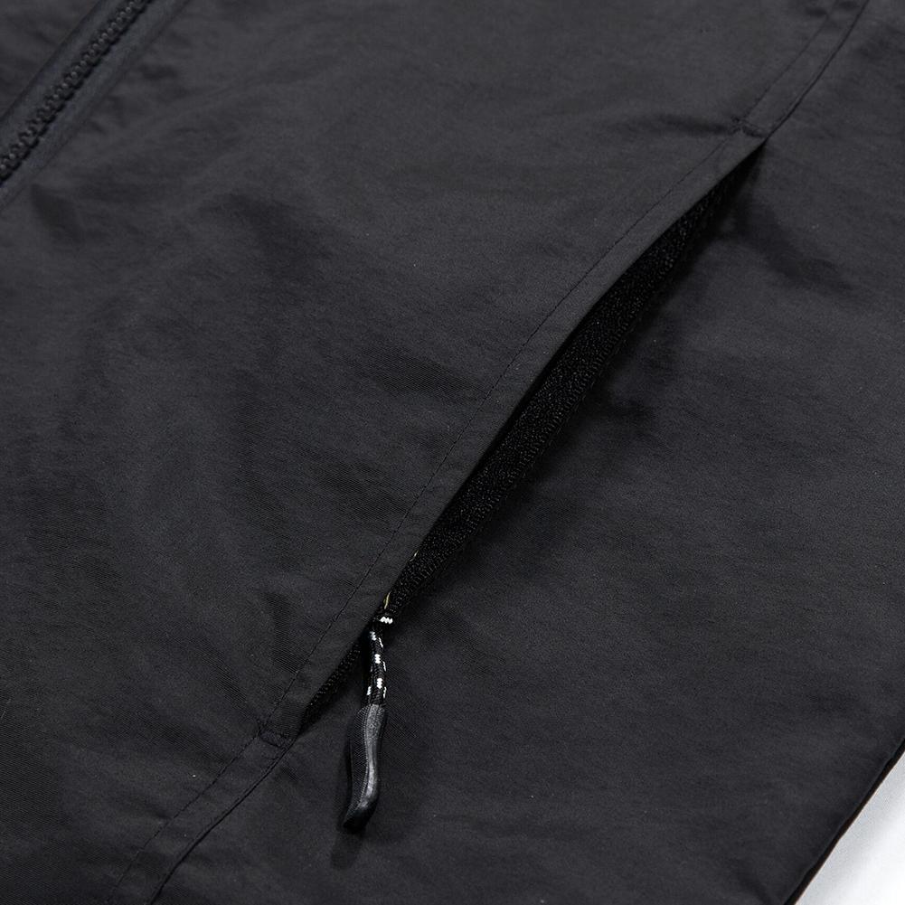 Taille M 3XL Hommes Outdoor Casual Automne Polyester Zipper Warm Coat Jacket Outwear - 8