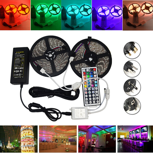 DC12V 5IN1 RGB+CCT LED Strip Light 5050 Flexible Tape Non-waterproof Indoor Lamp Home Decor - 1