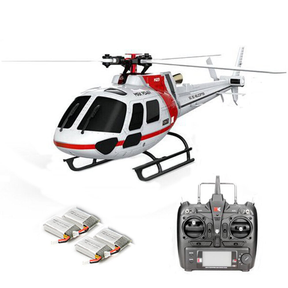 OMPHOBBY M2 V2 6CH 3D Flybarless Dual Brushless Motor Direct-Drive RC Helicopter BNF with Open Flight Controller - 1