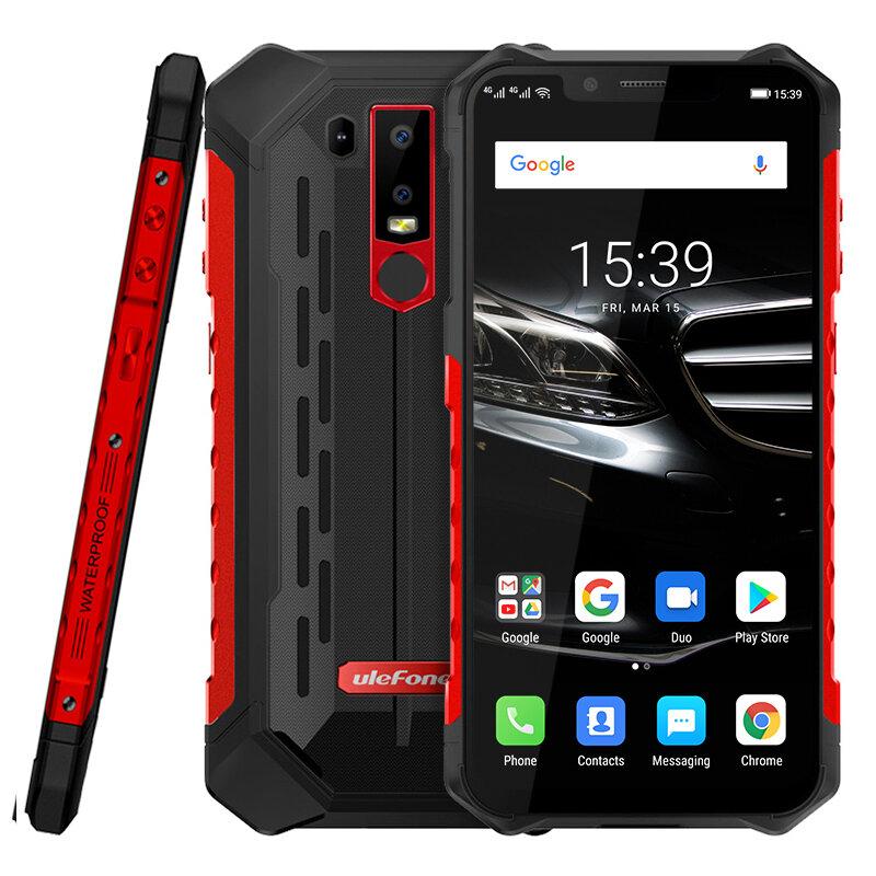 Ulefone ARMOR 6E NFC IP68 IP69K Impermeabile 6.2 pollici 5000mAh 4GB 64GB Helio P70 Octa core 4G Smartphone