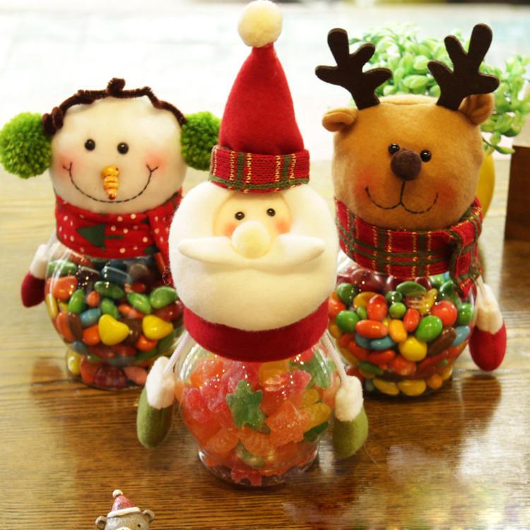 Natale 2017 Candy Vaso Natale Babbo Natale Pupazzo di neve di Natale Natale Regali Natale Ornamenti Desktop - 2