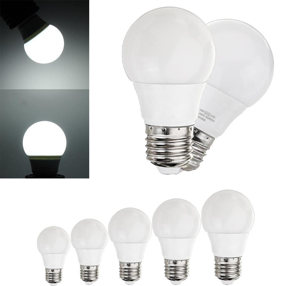 E27 5W 7W 9W 12W 15W A60 SMD5730 2835 Smart IC White 6000K No Flicker LED Globe Light Bulb AC85-265V