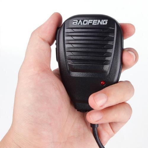 BAOFENG Altifalante de Microfone de Mão Com Luz de Indicação para BF-888S Rádio UV5R Walkie Talkie