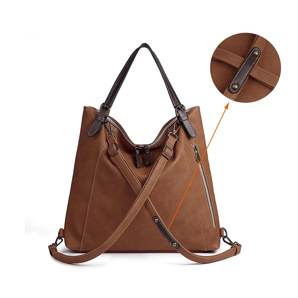 Túi xách nữ Brenice Tote Vintage Multifuntion Ba lô đeo vai