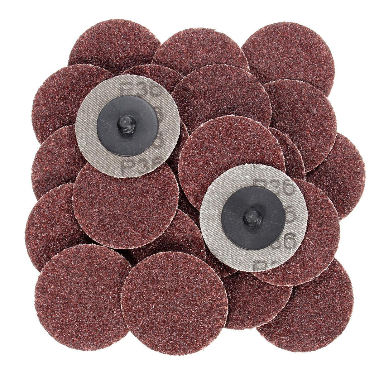 25pcs 2 inch 36 grit r-type abrasive sanding discs roll lock ...