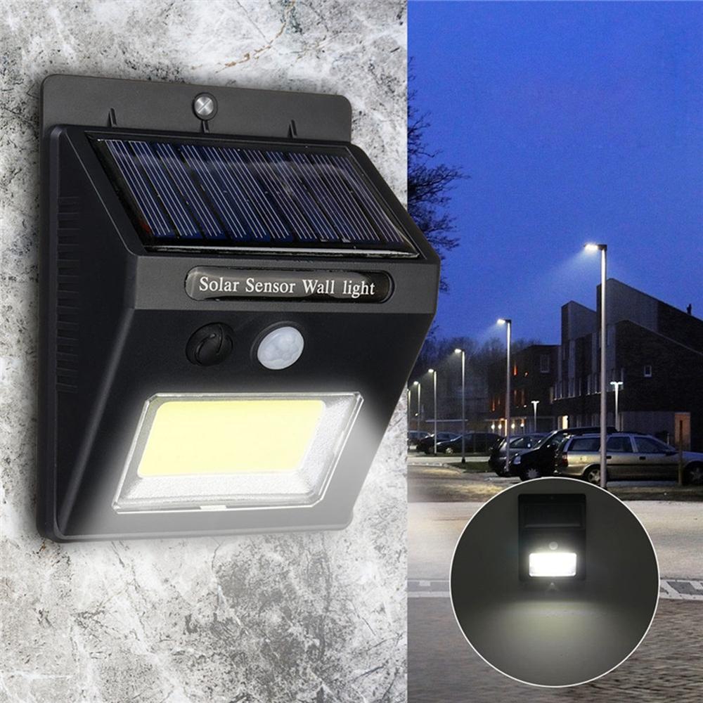 Solar Power PIR Motion LED Wall Lights Waterproof Wireless Security Step Lamp