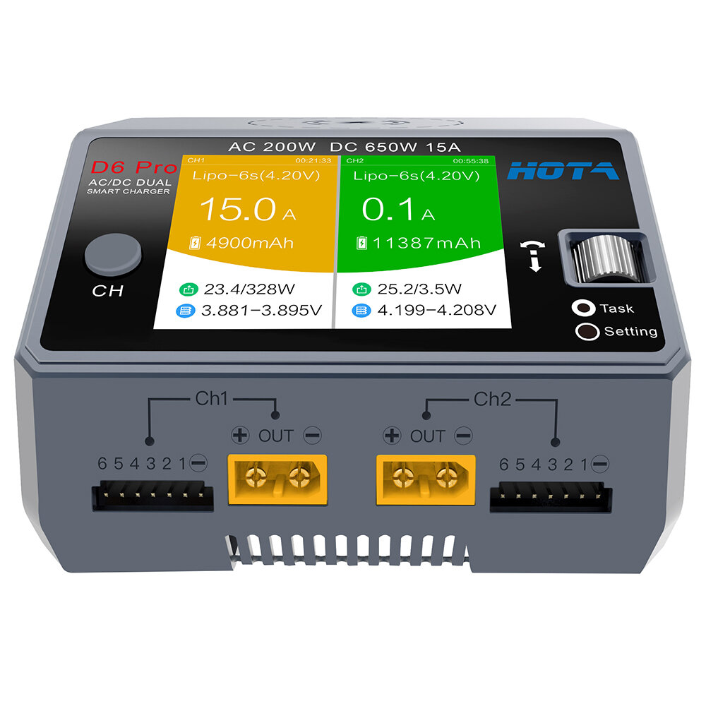HTRC T240 DUO AC 150W DC 240W 10A Touch Screen Dual Channel Battery Balance Charger Discharger - 2