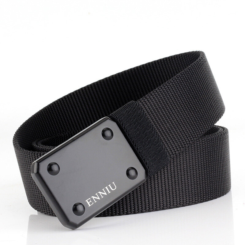 130cm ENNIU TB51-2 3.8cm Thicken Nylon Tactical Belt Army Fan Specialized Armed  Metal Quick Release Military Belt