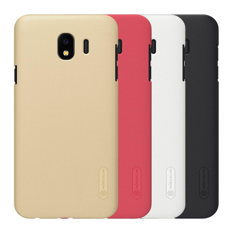 NILLKIN Frosted Shield Hard PC Protective Case for Samsung Galaxy J4 2018 - Red COD