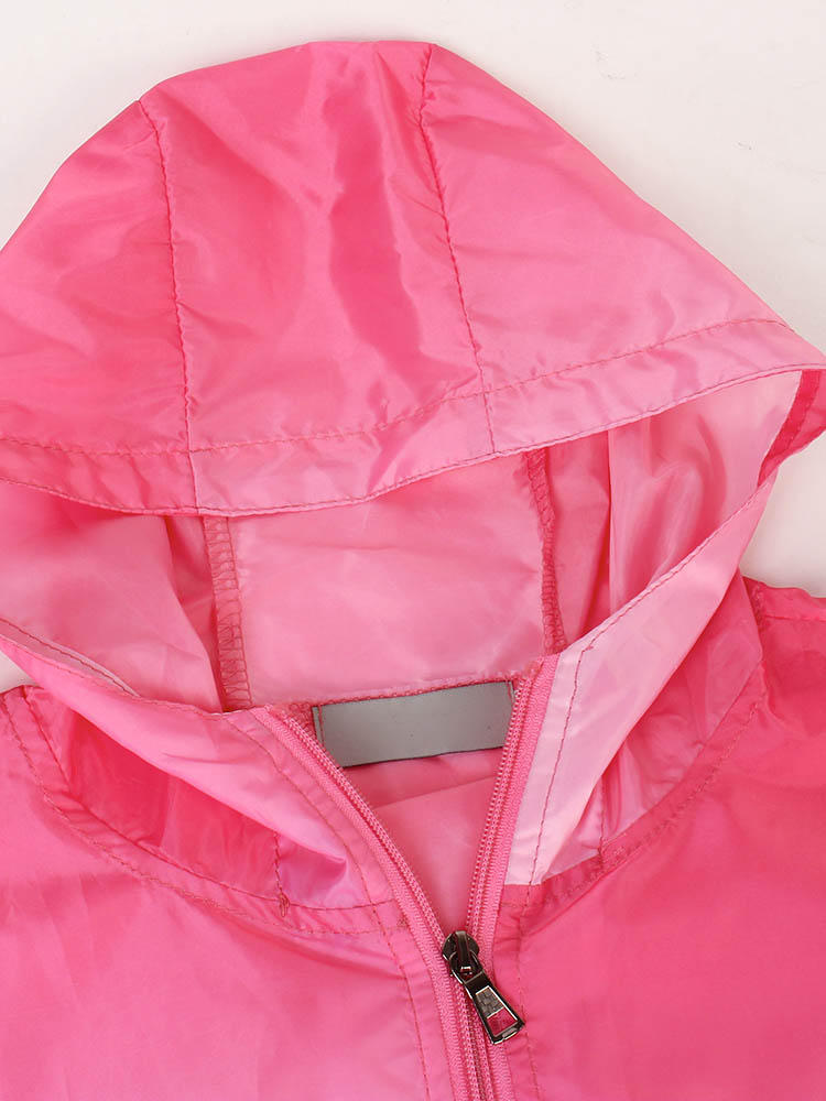 Casual Women Hooded Gradient Sport Sun Protection Coat - 6