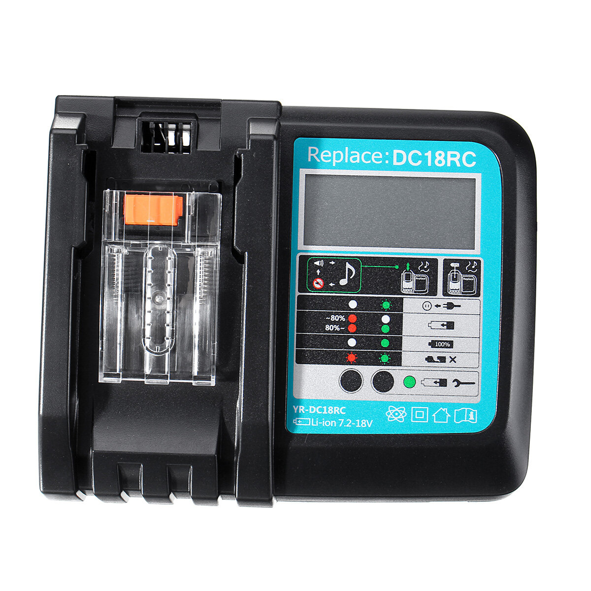 DC18RC फास्ट लीथियम-आयन बैटरी चार्जर BL1830 BL1840 BL1850 Makita बैटरी के लिए