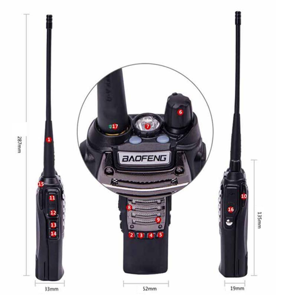 BAOFENG UV82 PLUS VHF/ UHF Dual Band Walkie Talkie Two-way Radio FM Transceiver With Flashlightt - 3