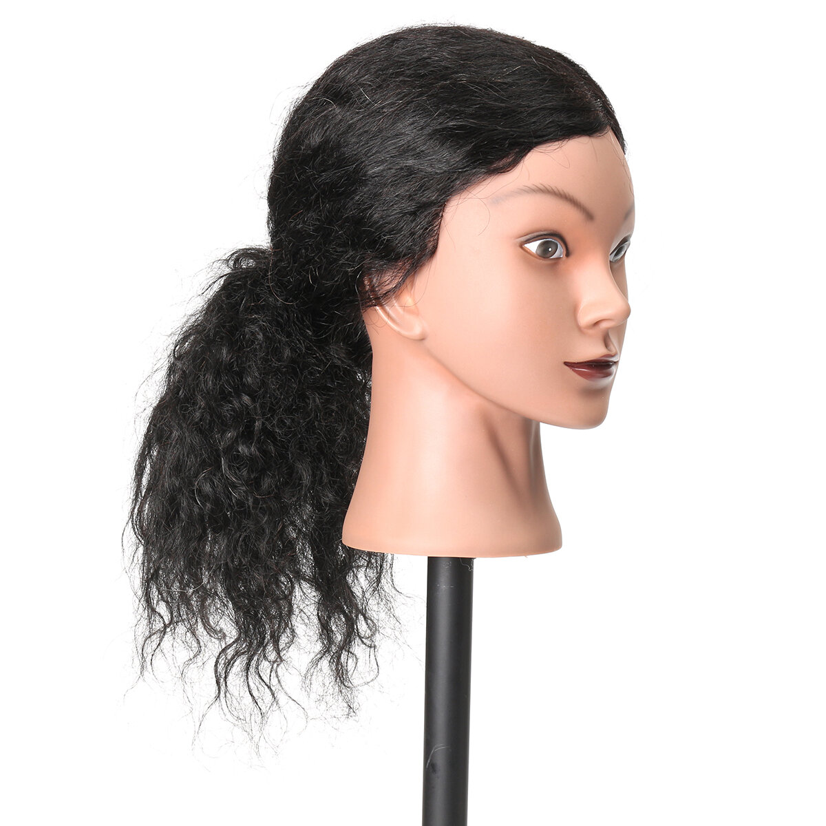 Female Plastic Mannequin Head Wig Hair Display Model Stand 3 Colors - 8