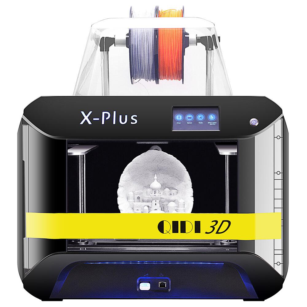 طابعة QIDI® X-Plus كبيرة الحجم من الدرجة الصناعية المثبتة مسبقًا FDM ثلاثية الأبعاد مع طباعة بحجم 270 * 200 * 200 مم الد