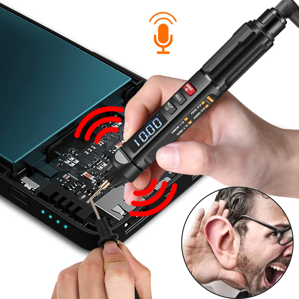 MUSTOOL MT007/MT007 Pro/MT007 Pro-EN True RMS Digital Multimeter + VoltageTest Pen +Phase Sequences Meter3 In 1 Colo