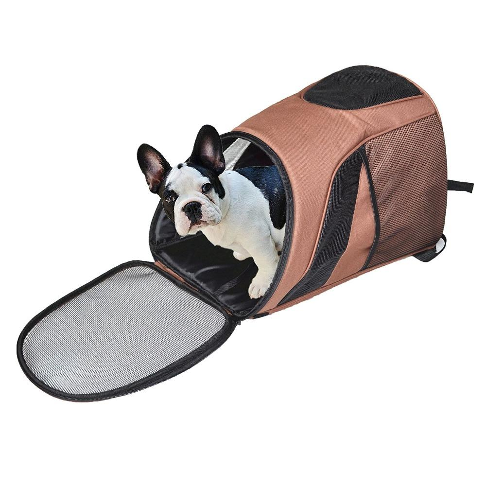 Pet Carrier Premium Travel Outdoor Mesh Backpack Carry Borsa Accessorio per cane Cat Rabbit Small Pets Cage - 6
