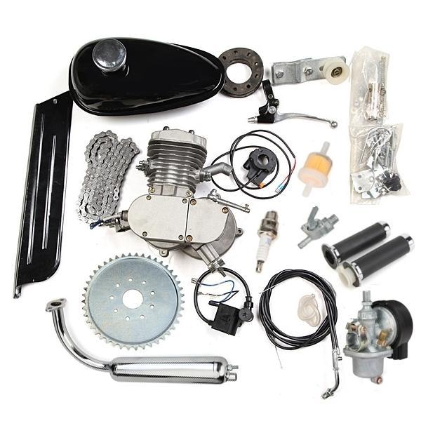 80cc 2 Cycle Motorcycle Muffler Motorized Bike Engine Accessories Set