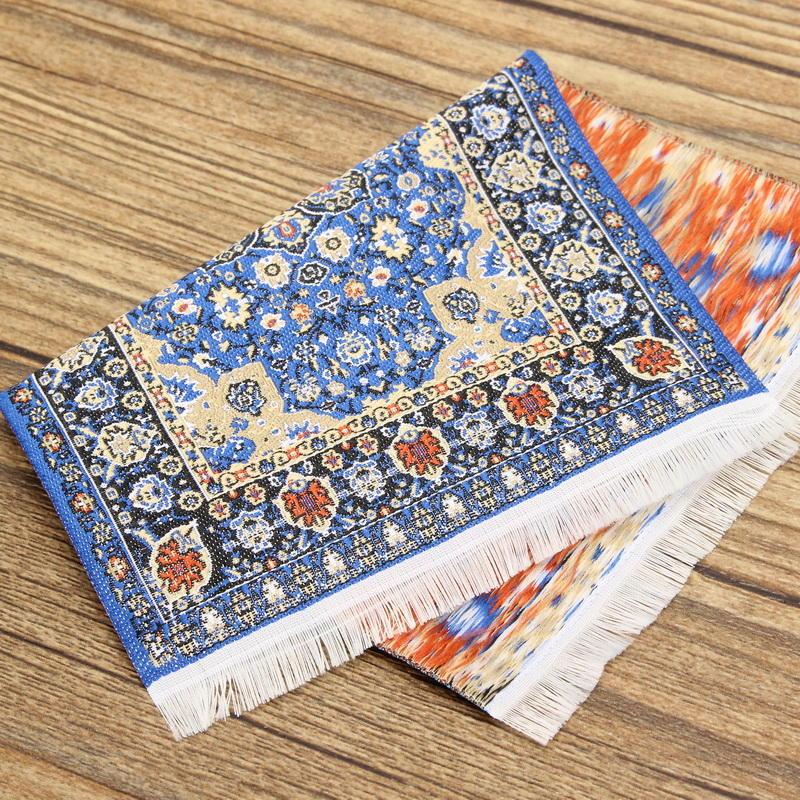1/12 Dollhouse tappeto tappeto turco 10x15cm Accessori per casa delle bambole in miniatura Decor TCS001 TCS002 - 6