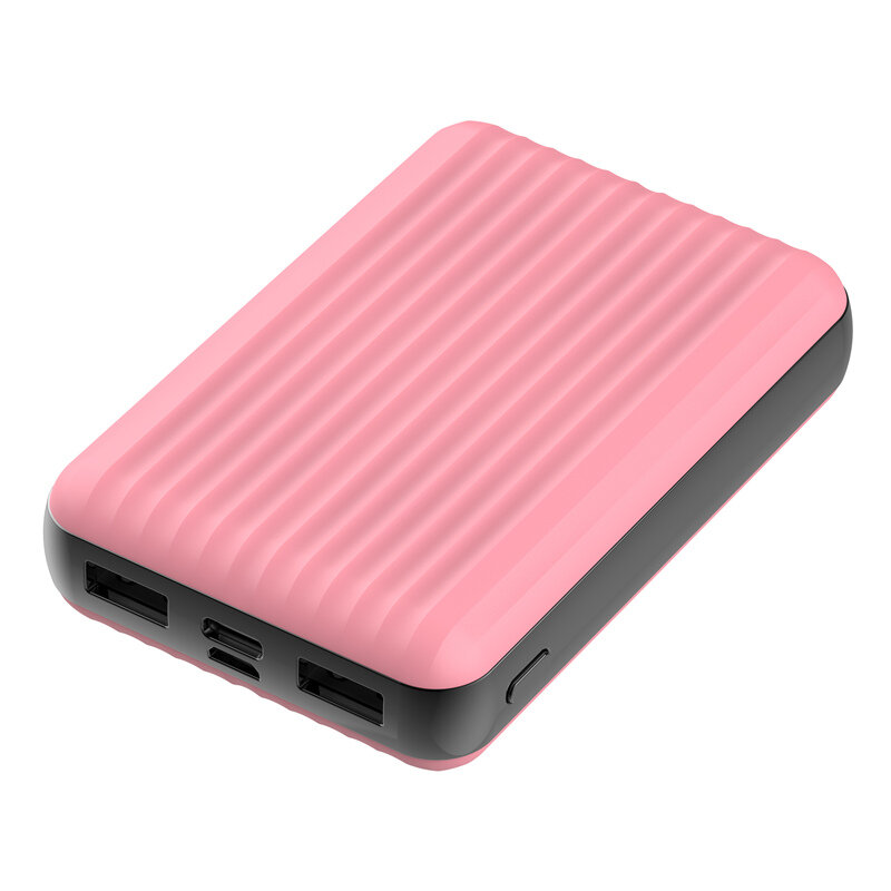 Bakeey PT-477 10000mAhデュアルUSB出力、Type-C + Micro Input Power Bank for Samsung Galaxy S21 Note S20 ultra Huawei Mate40 P50 OnePlus 9 Pro for iPhone 12…