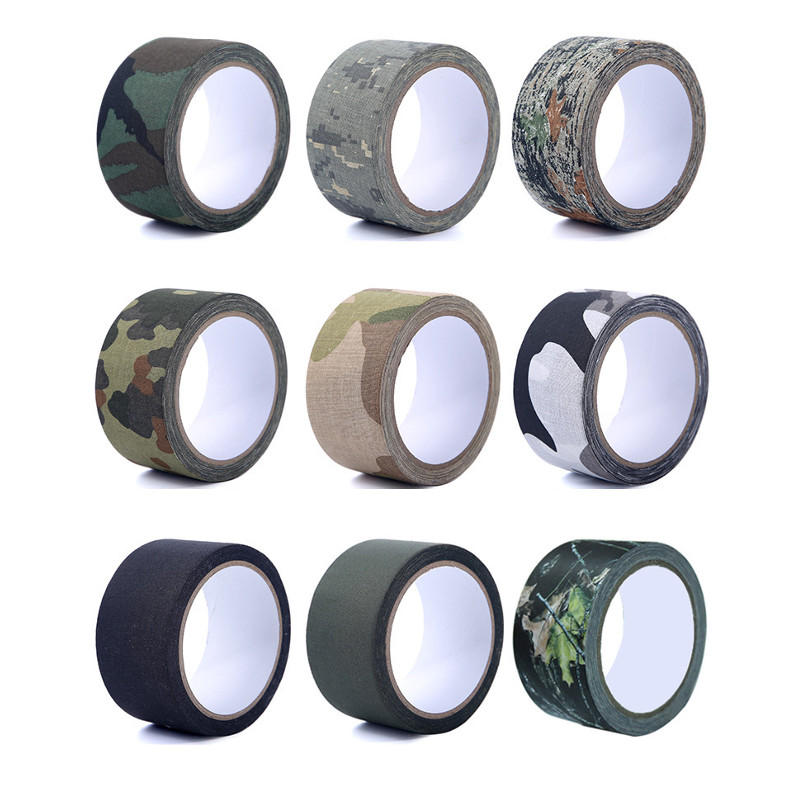 5cm*5m EONBON Outdoor Camping Guise Camouflage Strong Masking Tape For Flashlight Paiting Bike Car Wall Tree Painting De