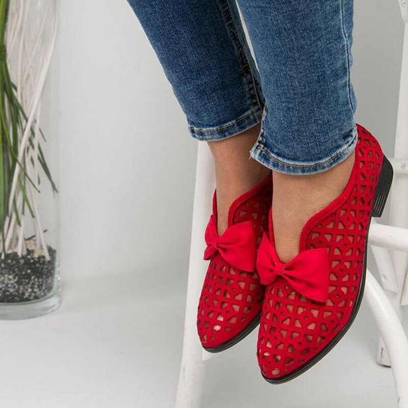 Women Plus Size Comfy Casual Spring Flat Loafers - 10