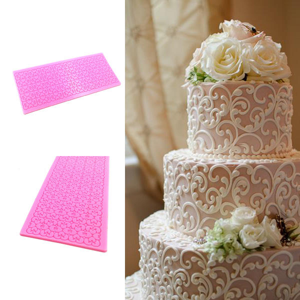 Lace Silicone Cake Mold Fondant Print Mould Decorating Tool, Banggood  - buy with discount