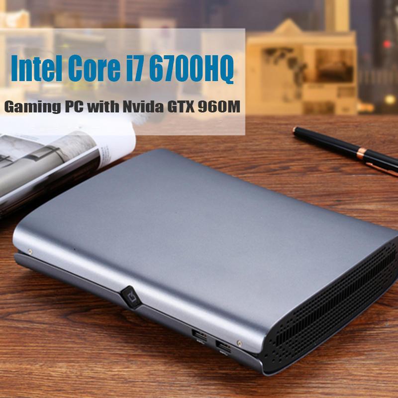 HYSTOU M1 Mini PC Intel Core i7-6700HQ 16GB+256GB 16GB+512GB NVIDIA GTX 960M Win10 with fan Type-C S/PDIF 5G Wifi Bluetooth 4.0 HDMI DP Output HTPC Gaming PC Computer